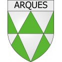 Stickers coat of arms Arques adhesive sticker