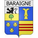 Stickers coat of arms Baraigne adhesive sticker