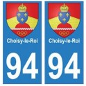 94 Choisy-le-Roi blason autocollant sticker plaque immatriculation ville