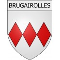 Stickers coat of arms Brugairolles adhesive sticker