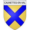 Stickers coat of arms Caunettes-en-Val adhesive sticker