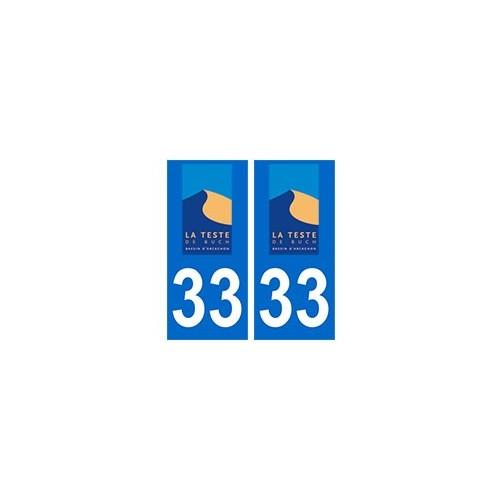 Autocollant plaque immatriculation voiture dpt 33 Gironde
