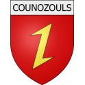 Stickers coat of arms Counozouls adhesive sticker