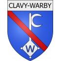 Clavy-Warby 08 ville Stickers blason autocollant adhésif