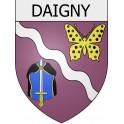 Daigny 08 ville Stickers blason autocollant adhésif