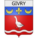 Stickers coat of arms Givry adhesive sticker