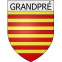 Stickers coat of arms Grandpré adhesive sticker