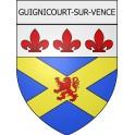 Guignicourt-sur-Vence 08 ville Stickers blason autocollant adhésif