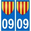 09 Foix blason autocollant plaque