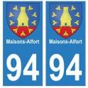 94 Maisons-Alfort blason autocollant sticker plaque immatriculation ville