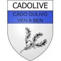 Cadolive 13 ville Stickers blason autocollant adhésif
