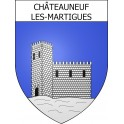 Stickers coat of arms Châteauneuf-les-Martigues adhesive sticker
