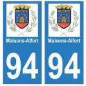 94 Maisons-Alfort logo decal sticker plate registration city
