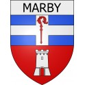 Stickers coat of arms Marby adhesive sticker