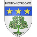 Stickers coat of arms Montcy-Notre-Dame adhesive sticker