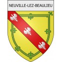 Stickers coat of arms Neuville-lez-Beaulieu adhesive sticker