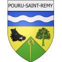 Pouru-Saint-Remy 08 ville Stickers blason autocollant adhésif