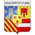 Stickers coat of arms Raucourt-et-Flaba adhesive sticker