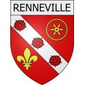 Stickers coat of arms Renneville adhesive sticker