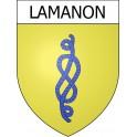 Lamanon 13 ville Stickers blason autocollant adhésif