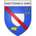 Stickers coat of arms Saint-étienne-à-Arnes adhesive sticker
