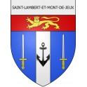 Stickers coat of arms Saint-Lambert-et-Mont-de-Jeux adhesive sticker