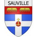 Sauville 08 ville Stickers blason autocollant adhésif