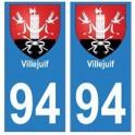 94 Villejuif coat of arms sticker sticker plaque immatriculation city