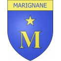 Marignane 13 ville Stickers blason autocollant adhésif
