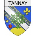 Stickers coat of arms Tannay adhesive sticker