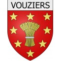Stickers coat of arms Vouziers adhesive sticker