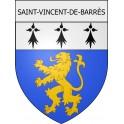 Stickers coat of arms Saint-Vincent-de-Barrès adhesive sticker