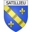 Stickers coat of arms Satillieu adhesive sticker