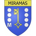 Stickers coat of arms Miramas adhesive sticker