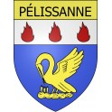 Stickers coat of arms Pélissanne adhesive sticker