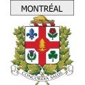 montréal 07 ville Stickers blason autocollant adhésif