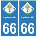 66 Argelès-sur-Mer blason autocollant plaque