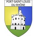 Stickers coat of arms Port-Saint-Louis-du-Rhône adhesive sticker