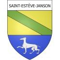 Stickers coat of arms Saint-Estève-Janson adhesive sticker