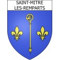 Stickers coat of arms Saint-Mitre-les-Remparts adhesive sticker