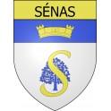Stickers coat of arms Sénas adhesive sticker