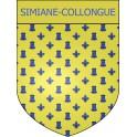 Simiane-Collongue 13 ville Stickers blason autocollant adhésif