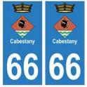 66 Cabestany blason autocollant plaque ville