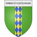 Stickers coat of arms Embres-et-Castelmaure adhesive sticker