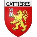 Stickers coat of arms Gattières adhesive sticker