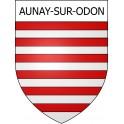 Aunay-sur-Odon 14 ville Stickers blason autocollant adhésif