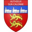 Authieux-sur-Calonne 14 ville Stickers blason autocollant adhésif