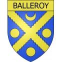 Balleroy 14 ville Stickers blason autocollant adhésif