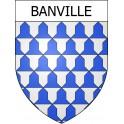 Banville 14 ville Stickers blason autocollant adhésif