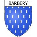 Barbery 14 ville Stickers blason autocollant adhésif
